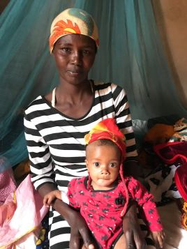 Zainabu with her little girl